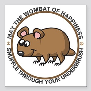 "wombat Square Car Magnet 3"" x 3"""