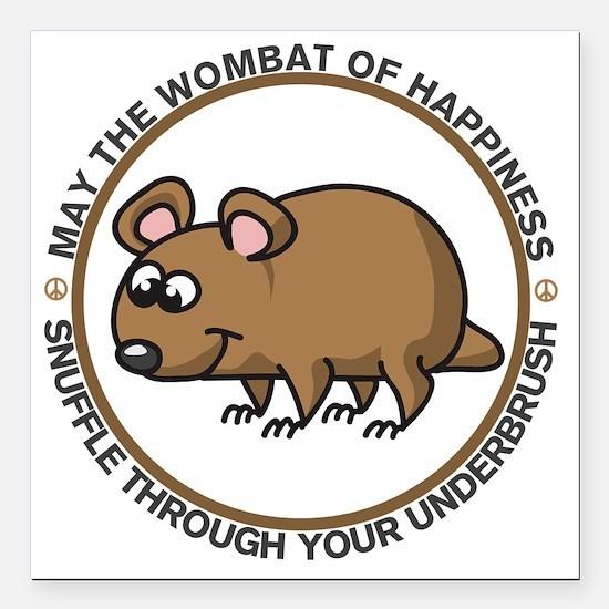 "wombat Square Car Magnet 3"" x 3"""