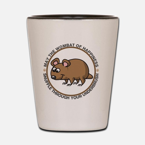 wombat3 Shot Glass