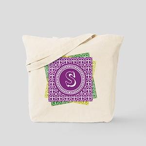 Initial S Mardi Gras Fleur De Lis Personalized Bag