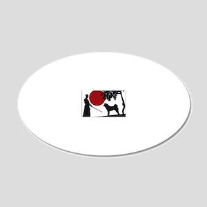 Akita Samurai 20x12 Oval Wall Decal