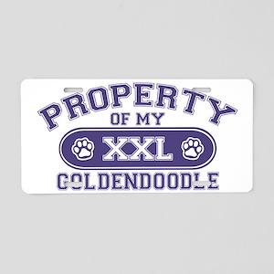 goldendoodleproperty Aluminum License Plate