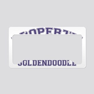 goldendoodleproperty License Plate Holder