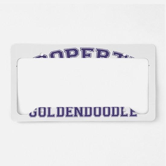 goldendoodleproperty License Plate Holder
