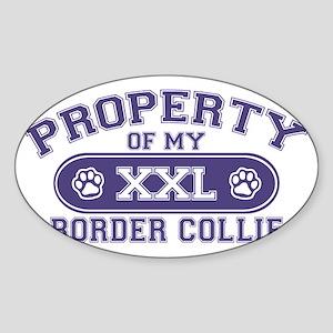 bordercollieproperty Sticker (Oval)
