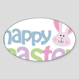 happyeaster Sticker (Oval)