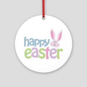 happyeaster Round Ornament