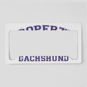 dachshundproperty License Plate Holder