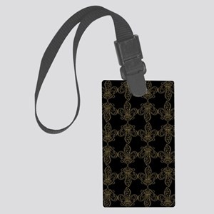 FleurDeLis_Pattern-2 Large Luggage Tag
