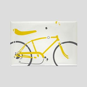 bananna bike dark Rectangle Magnet
