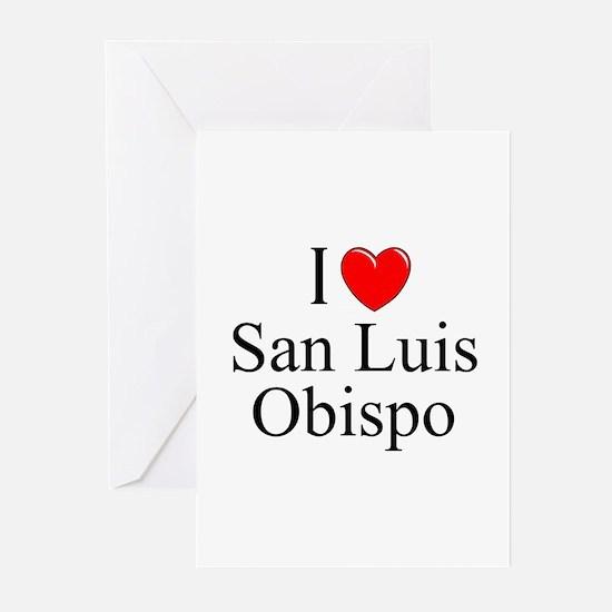 """I Love San Luis Obispo"" Greeting Cards (Package o"