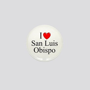 """I Love San Luis Obispo"" Mini Button"