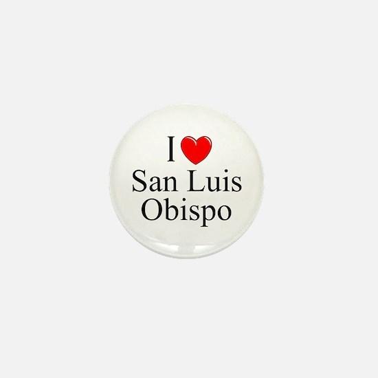 """I Love San Luis Obispo"" Mini Button"