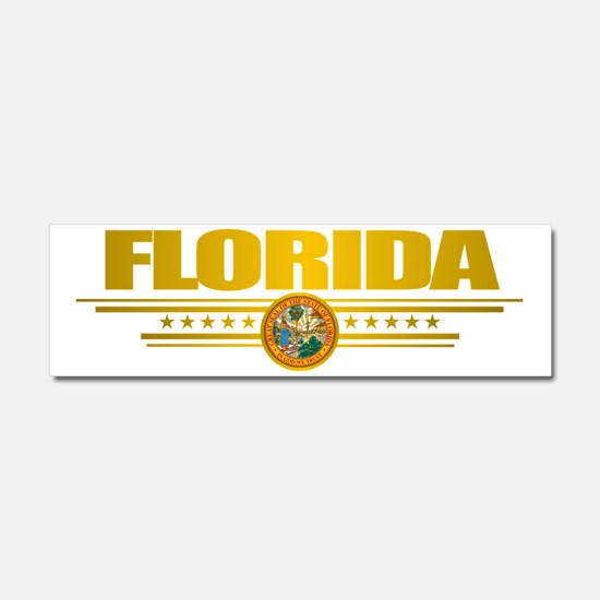 Florida (Gold Label) pocket Car Magnet 10 x 3