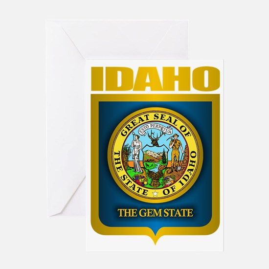 Idaho (Gold Label) Greeting Card