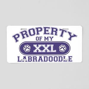 labradoodleproperty Aluminum License Plate