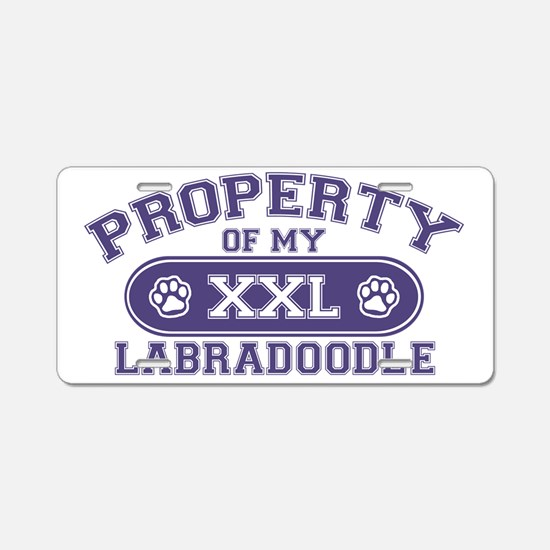 labradoodleproperty Aluminum License Plate