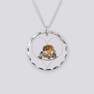 humane society trans copy Necklace Circle Charm