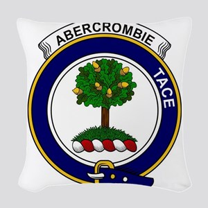 Abercrombie Clan Badge Woven Throw Pillow