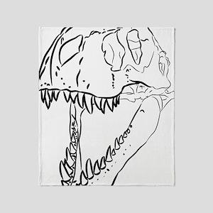 INK_Largest_Rex_Skull_3_4ths Throw Blanket