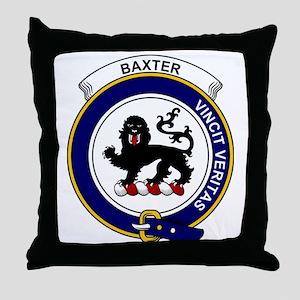 Baxter Clan Badge Throw Pillow
