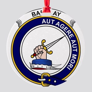 Barclay Clan Badge Round Ornament