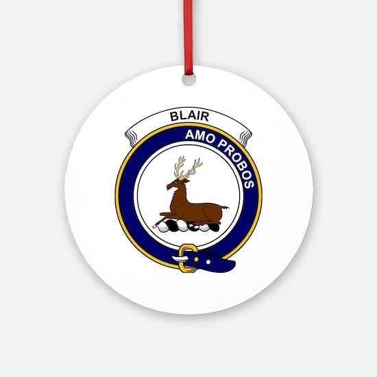 Blair Clan Badge Round Ornament
