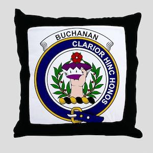 Buchanan Clan Badge Throw Pillow