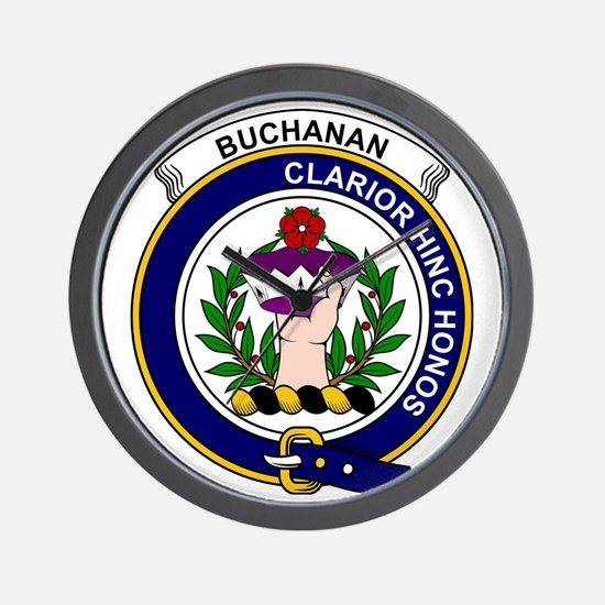 Buchanan Clan Badge Wall Clock