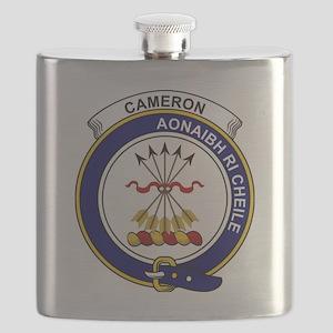 Cameron Clan Badge Flask