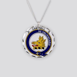 Campbell Clan Badge Necklace Circle Charm