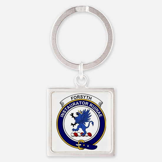 Forsyth Clan Badge Square Keychain