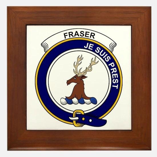 Fraser (of Lovat) Clan Badge Framed Tile