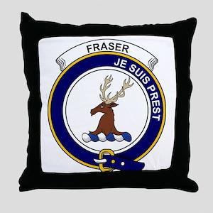 Fraser (of Lovat) Clan Badge Throw Pillow