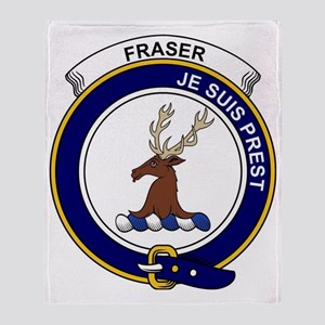Fraser (of Lovat) Clan Badge Throw Blanket