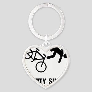Gravity Sucks Bike Black Heart Keychain