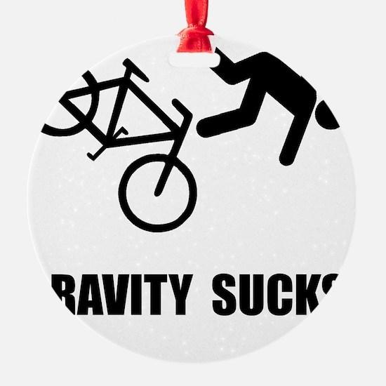 Gravity Sucks Bike Black Ornament
