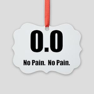 No Pain Black Picture Ornament