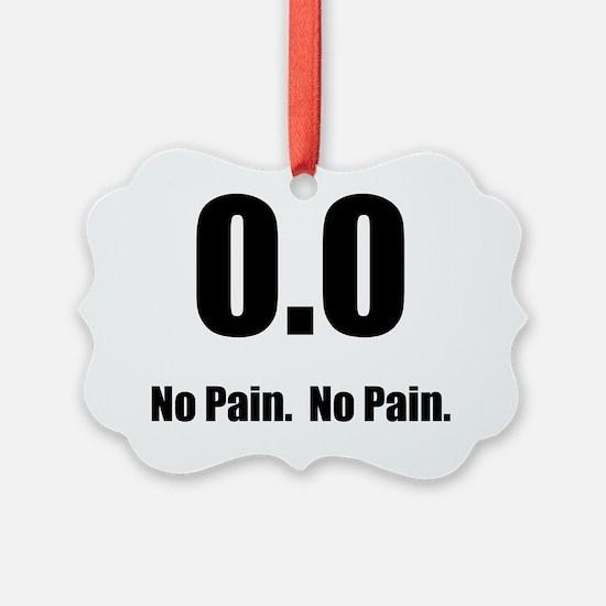 No Pain Black Ornament