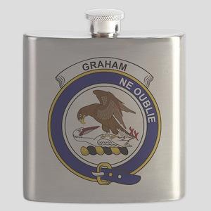 Graham Clan Badge Flask