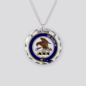 Graham Clan Badge Necklace Circle Charm