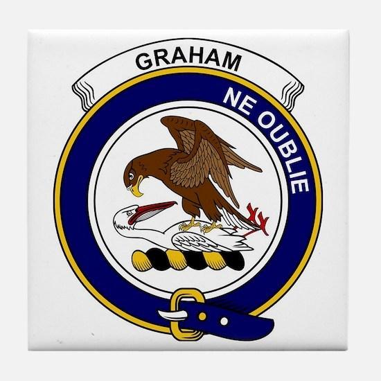 Graham Clan Badge Tile Coaster