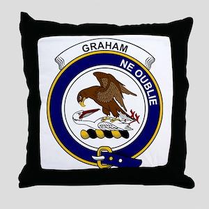 Graham Clan Badge Throw Pillow
