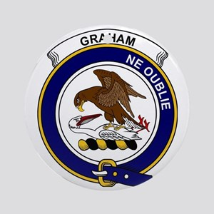 Graham Clan Badge Round Ornament
