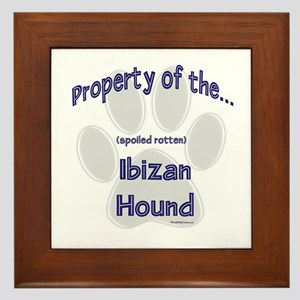 Ibizan Hound Property Framed Tile