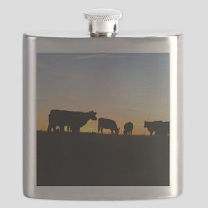 Cows at sundown Flask