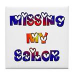 Missing My Sailor Tile Coaster