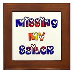 Missing My Sailor Framed Tile