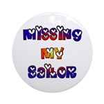Missing My Sailor Ornament (Round)