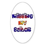 Missing My Sailor Oval Sticker